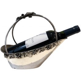 Silver Plated Wine Holder with Grappes Decor