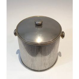 Silver Plated And Plastic Ice Bucket. French