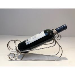 SILVER PLATED SLEIGH BOTTLE HOLDER. FRENCH