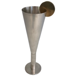 Silver Plated And Brass Champagne Flute