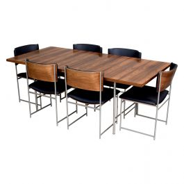 Exceptional Cees Braakman SM08 Brazilian Rosewood Dining Set