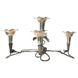 Antique Epergne Sterling Vase Candelabra 5 Candle Holder by MAPPIN and WEBB