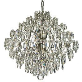 Modern Style Crystal Chandelier: Nickel plated and crystal (50cm/19.7 inches)