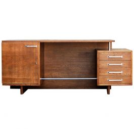 Large Freestanding Functionalist Desk, Jiri Kroha, 1930s