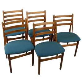Five Refinished Poul Volther Dining Chairs in Oak, Choice of Upholstery