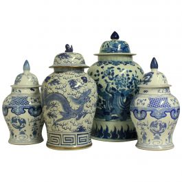 Collection of Four Large Chinese Vars with Covers