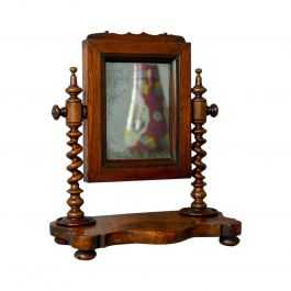 Small Antique Platform Mirror, English, Rosewood, Dressing Table, Toilet