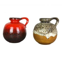 Set of Two Pottery Fat Lava Vases Model