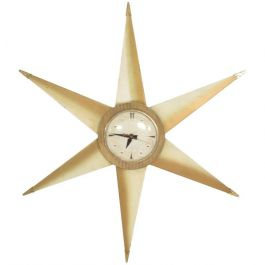 Mid Century Star Electric Clock by Bilt Rite Mfg Co