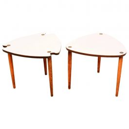 Mid-Century Modern Triangular Nesting Tables
