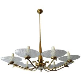 Honeycomb Glass Saucer Chandelier