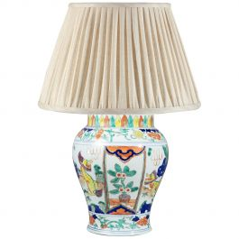 Chinese Famille Verte Porcelain Vase Mounted as a Table Lamp