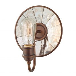 Bronze reflective wall light