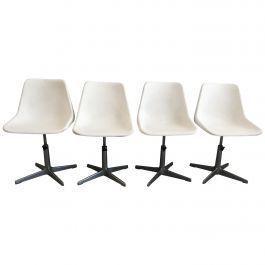 Mid-Century Modern Set of 4 Robin Day Rotating Chairs, 1960s
