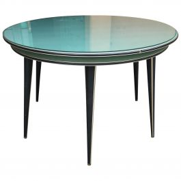 Mid-Century Modern Italian Round Table by Umberto Mascagni, 1960s