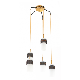 Modern pendant light manufactured in Italy during the 1950s