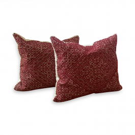 A Pair of Fez Embroidery Cushions