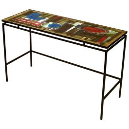 Hand Painted Tiled Console Table