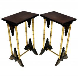 Pair of English Japanned Wine Tables
