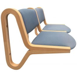 Rud Thygesen and Johnny Sørensen Wall Mounted Two Seat Bench, Inc. Reupholstery