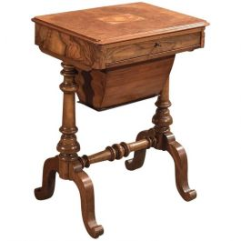 Antique Work Table, Victorian Sewing Table c1860
