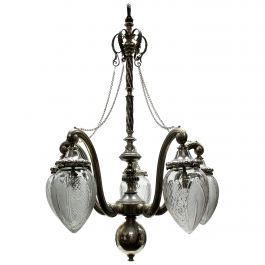 Unusual Victorian Silver Pendant Light