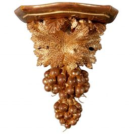 Carved Giltwood Wall Bracket in the Manner of John Booker of Dublin