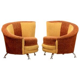 Stunning Pair of Cocktail Chairs by František Jirák for Tatra Nábytok, 1970s