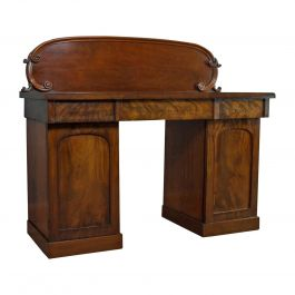 Antique Pedestal Sideboard, English, Mahogany, Dresser, Victorian, circa 1850