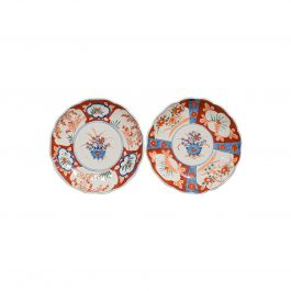 Pair of Vintage Imari Dishes, Oriental, Painted, Ceramic, Decorative, Saucers
