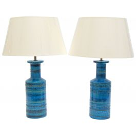 1960s Pair Of Ceramic Rimini Bitossi Lamps