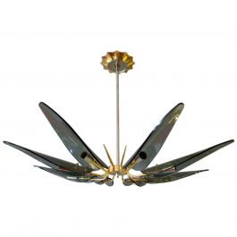 Italian Mid-Century Chandelier in the Style of Fontana Arte