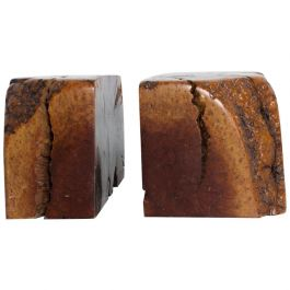 Mid Century Modern Burl Wood Bookends attr Don Shoemaker