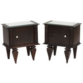 Pair of Mid Century Side Cabinets, Bedside Tables or Nightstands c1950s France