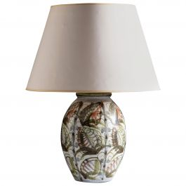 Bloomsbury Style Art Pottery Vase as a Table Lamp