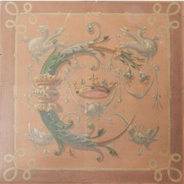 UnknownFrench 19th Century Painting Catherine de Medicis Emblems Decorative Chimerac1840-60