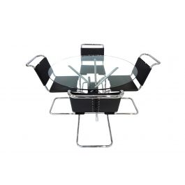 Knoll International Mies van der Rohe MR10 chairs and MZ59 table