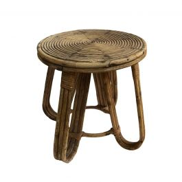 1930s French Cane Low Table