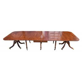 19th Century Regency Mahogany D End Dining Table
