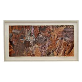 Abstract Collage Art in Tones of Brown by Bill Allan