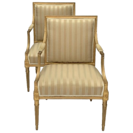 Pair of giltwood armchairs