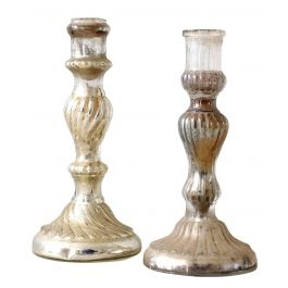 French Antique Mercury Candlesticks
