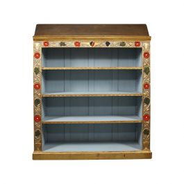 Painted Arts and Crafts Bookcase