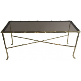 MAISON BAGUÉS. FAUX-BAMBOO BRONZE COFFEE TABLE