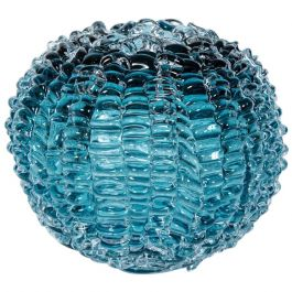 Echinus in Steel Blue' Glass Sculpture Centrepiece by Katherine Huskie