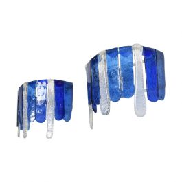 Pair of Hand Blown Glass Sconces Attributed to FEDERS