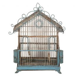 19th Century Painted Wire Bird Cage