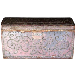 Decorative French Leather Studded Box