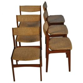 1960s Erik Buch Set of Six Dining Chairs in Teak - choice of upholstery