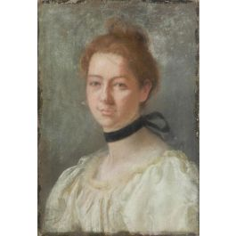 UnknownPortrait of a Lady French 19th Century Painting Pastel on Canvasc1880-1900